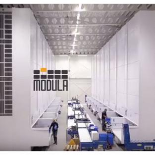 LASAULEC vergelijkt oude situatie (rekken) met vernieuwde automatisatie (Modula liften)