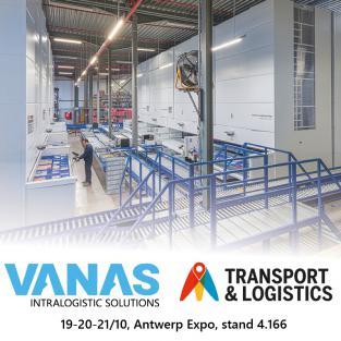 Ontdek hoe u uw productiviteit kan verhogen met systemen van Vanas Engineering op Transport & Logistics Antwerp