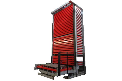 Verticale lift voor plaatopslag